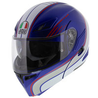 AGV Compact ST Boston mat blauw wit rood