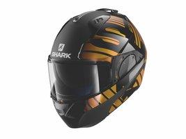 Shark Evo-One 2 Lithion Dual zwart oranje chrome