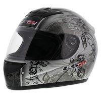 LS2 FF350 Helm Manga glans zilver zwart