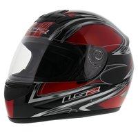 LS2 FF350 Helm Diamond glans rood