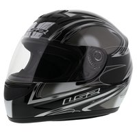 LS2 FF350 Helm Diamond glans zwart zilver
