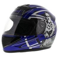 LS2 FF350 Helm Cartoon 2 glans blauw