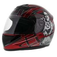 LS2 FF350 Helm Cartoon 2 glans rood