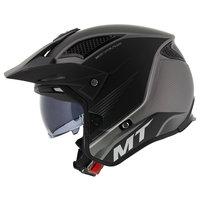 MT District SV Post helm mat zwart grijs