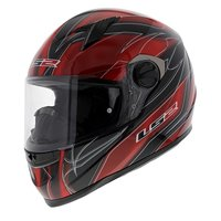LS2 FF358 Helm Supra glans zwart rood