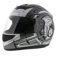 LS2 FF350 Helm Cartoon mat antraciet zilver