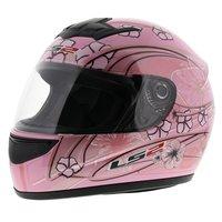 LS2 FF350 Helm Stardust 2 glans wit roze