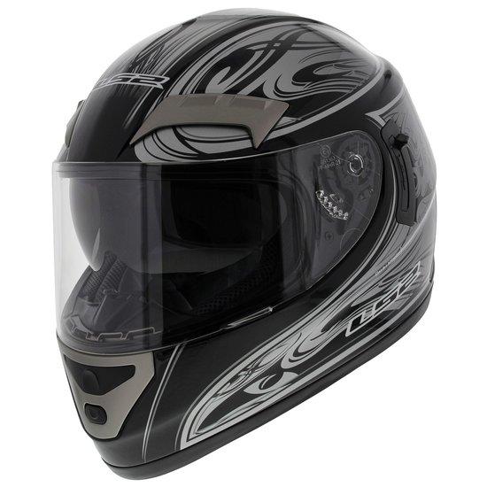 LS2 FF375 helm Shogun glans zwart zilver