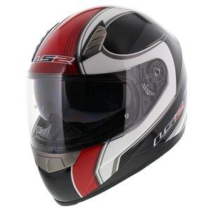 LS2 FF384 helm Fortuna glans zwart rood