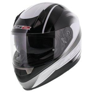 LS2 FF384 helm Iron glans wit zwart