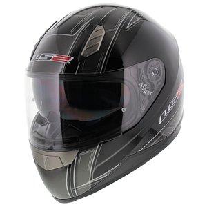 LS2 FF384 helm Esprit glans zwart