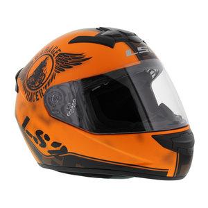 LS2 FF352 Rookie Fan helm mat oranje