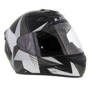 LS2 FF352 Rookie Brilliant helm mat zwart titanium