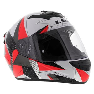 LS2 FF352 Rookie Brilliant helm wit roze