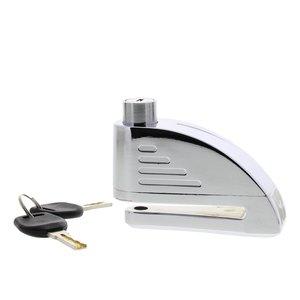 Schijfremslot chroom 5.5 mm met alarm