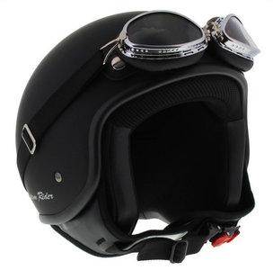 MT jethelm Custom Rider mat zwart