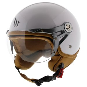 MT Soul Retro helm glans wit