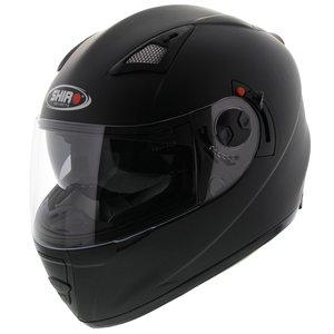 Shiro SH-3700 solid helm mat zwart met zonnevizier