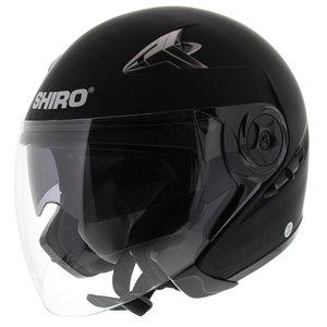 Shiro Jet Helm SH-55 Solid Mat Zwart