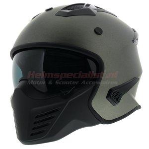 Vito Jet Bruzano helm mat titanium