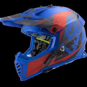 LS2 Crosshelm MX437 Fast EVO Alpha mat blauw