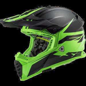 LS2 Crosshelm MX437 Fast EVO Roar mat zwart groen