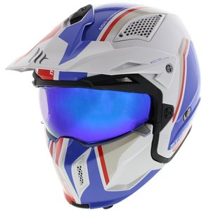 MT Streetfighter SV Twin helm Glans Wit Blauw Rood