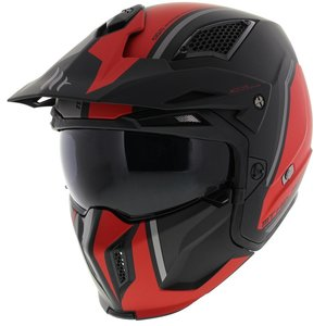 MT Streetfighter SV Twin helm mat zwart Rood