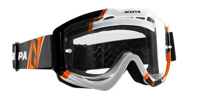 Jopa crossbril Venom 2 Graphic zwart/wit/oranje
