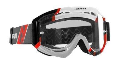 Jopa Crossbril Venom 2 Graphic zwart/wit/rood