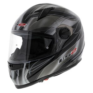 LS2 FF358 Supra Motorhelm glans zwart titanium