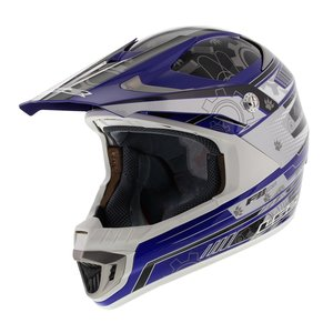 LS2 MX442 Crosshelm Airforce F2 glans blauw