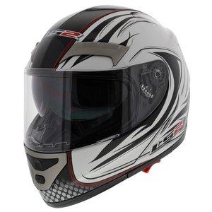 LS2 FF375 helm Stealth glans wit
