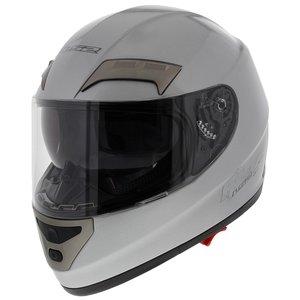 LS2 FF375 helm Combat Mono glans zilver