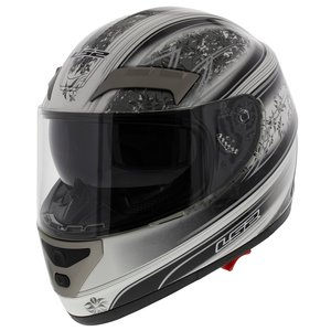 LS2 FF375 helm Garda glans wit zwart