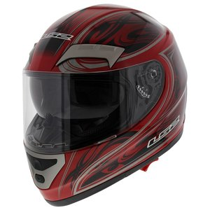 LS2 FF375 helm Shogun glans rood