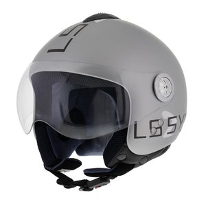 LS2 Jethelm OF536 Logo mat zilver