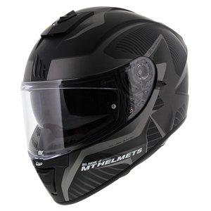 MT Blade II Blaster helm mat zwart grijs