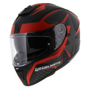 MT Blade II Blaster helm mat zwart rood