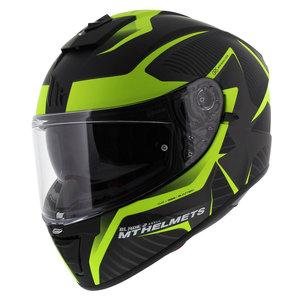 MT Blade II Blaster helm mat zwart fluor geel