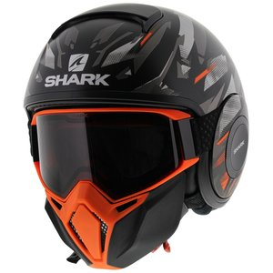 Shark Street Drak Kanhji Mat Zwart Oranje