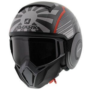 Shark Street Drak Zarco Malaysia GP Mat Antraciet Rood