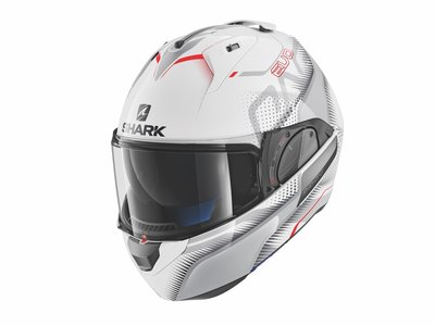 Shark Evo-One 2 Keenser wit zilver rood
