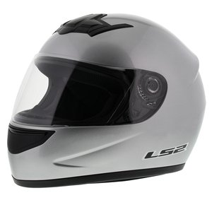 LS2 FF350 Helm Single Mono glans zilver