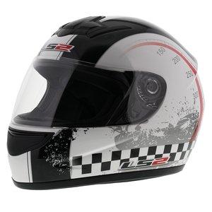 LS2 FF350 Helm Chrono glans wit zwart