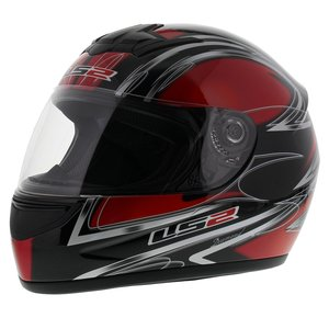 LS2 FF350 Helm Diamond glans rood