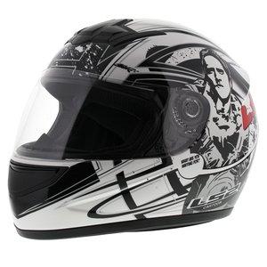 LS2 FF350 Helm Cartoon 2 glans wit
