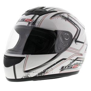 LS2 FF350 Helm Upside glans wit